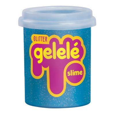 Pote-de-Slime---152-Gr---Gelele-Glitter---Azul---Doce-Brinquedo