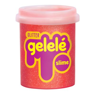 Pote-de-Slime---152-Gr---Gelele-Glitter---Laranja---Doce-Brinquedo