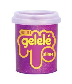 Pote-de-Slime---152-Gr---Gelele-Glitter---Pink---Doce-Brinquedo