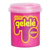 Pote-de-Slime---152-Gr---Gelele-Glitter---Rosa---Doce-Brinquedo