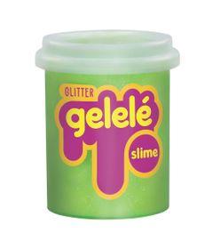 Pote-de-Slime---152-Gr---Gelele-Glitter---Verde---Doce-Brinquedo