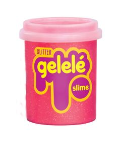 Pote-de-Slime---152-Gr---Gelele-Glitter---Vermelho---Doce-Brinquedo