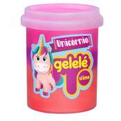 Pote-de-Slime---152-Gr---Gelele-Unicornio---3-Cores---Roxo-Laranja-e-Pink---Doce-Brinquedo