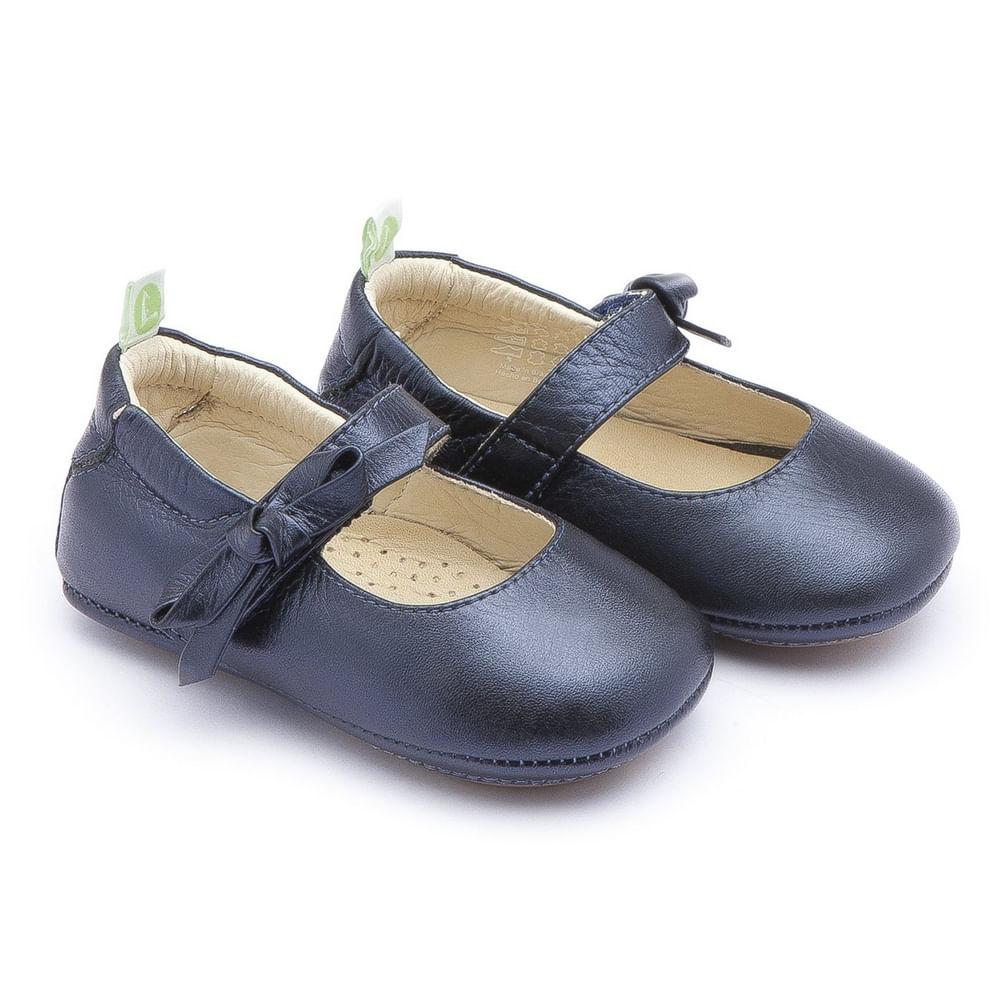 Sapato para Bebês - Dorothy - Couro - Azul Marinho - Tip Toey Joey