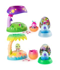 Kit-Mini-Figuras---Hatchimals-Colleggtibles---Casinhas-Iluminadas-e-2-Cores-Hatchimals---Mostre-Seu-Brilho---Sunny