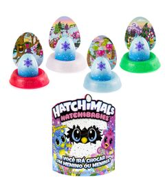 Kit-Mini-Figura-Surpresa---Hatchimals-Hatchibabies---Cheetree-e-4-Cores-Hatchimals-Mostre-Seu-Brilho---Sunny
