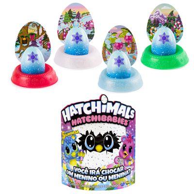 Kit-Mini-Figura-Surpresa---Hatchimals-Hatchibabies---Cheetree-e-4-Cores-Hatchimals-Mostre-Seu-Brilho---Sunny