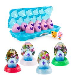 Kit-Mini-Figura-Surpresa---Hatchimals-Hatchibabies---One-Dozen-Egg-e-4-Cores-Hatchimals-Mostre-Seu-Brilho---Sunny
