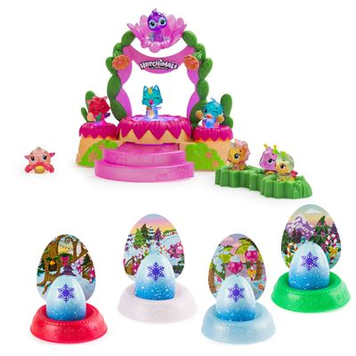 Kit-Playset-e-Mini-Figuras-Surpresa---Hatchimals-Colleggtibles-e-4-Cores-Hatchimals-Mostre-Seu-Brilho---Sunny