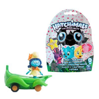 Kit-Veiculo-com-Mini-Figura---Smurfs---Smurflily-e-Leafboard-e-Figura-Sortida-Hatchimals---Colleggtibles---Sunny