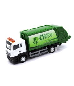 Mini-Veiculo-JR-Truck---Escala-1-32---Caminhao-de-Lixo-Reciclavel---Califonia-Toys