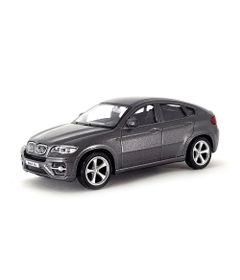 Mini-Veiculo-Junior---Escala-1-43---BMW-X6---Cinza---California-Toys