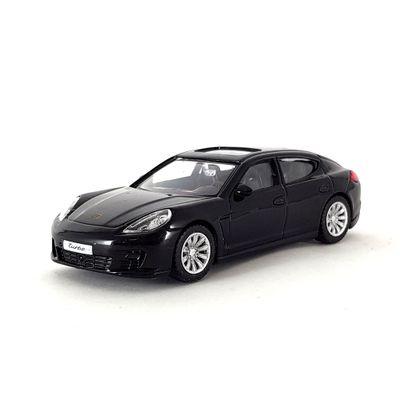 Mini-Veiculo-Junior---Escala-1-43---Porsche-Panamera-Turno---Preto---California-Toys