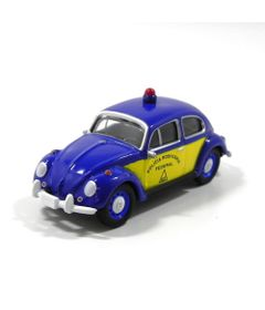 Mini-Veiculo-Collectible---Fusca-Policia-Rodoviaria---Escala-1-24---California-Toys