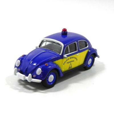 Mini-Veiculo-Collectible---Fusca-Policia-Rodoviaria---Escala-1-24---California-Toys