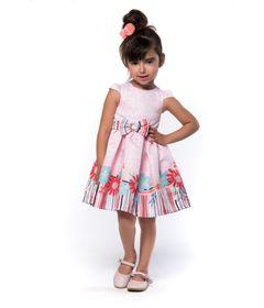 Vestido-Estampado-com-Laco---Poliester---Listras-e-Flores---Malagah---3