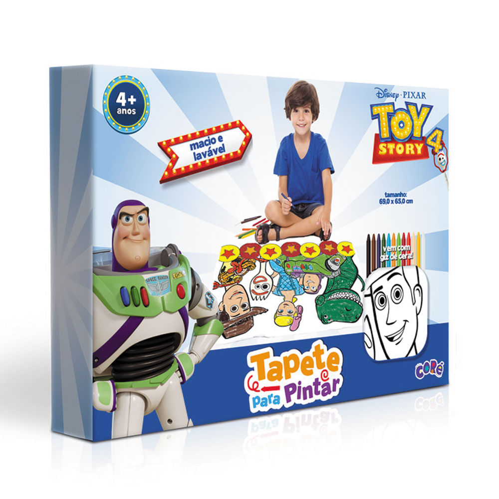 Tapete de Atividades - 69x65 Cm - Disney - Toy Story 4 - Tapete para Pintar - Coré - Toyster