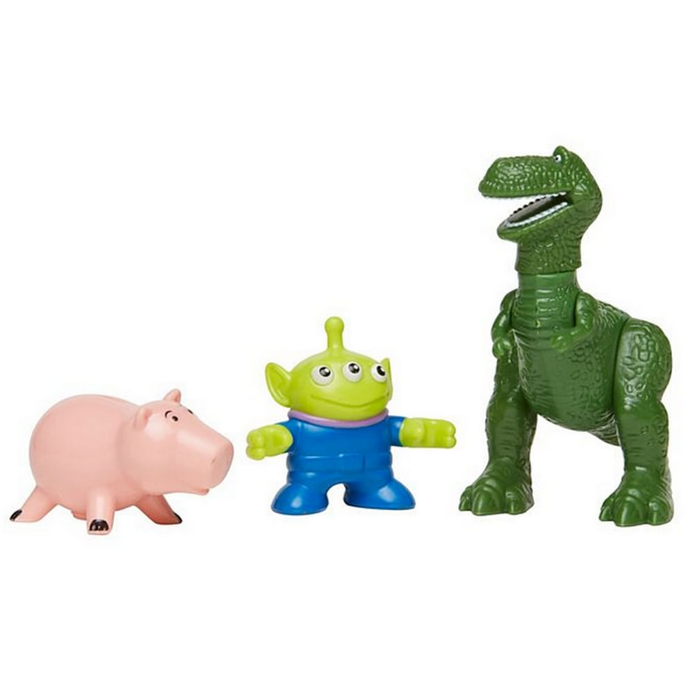 Mini Figuras Básicas - Imaginext - Disney - Pixar - Toy Story 4 - Rex, Hamm e Alien - Fisher Price