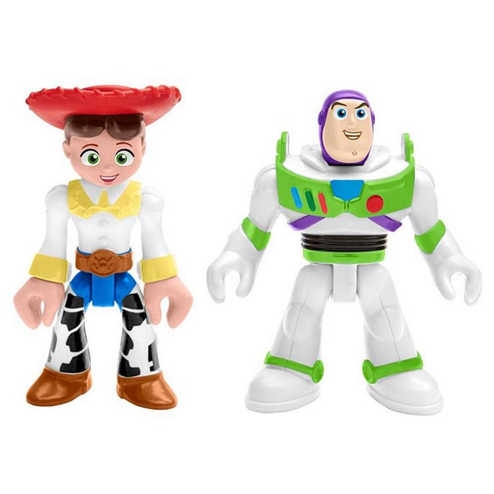 Mini Figuras Básicas - Imaginext - Disney - Pixar - Toy Story 4 - Buzz Lightyear e Jessie - Fisher-Price