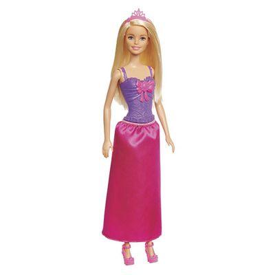 Boneca-Barbie---Reinos-Magicos---Vestido-com-Laco---Roxo-e-Rosa---Mattel_Frente