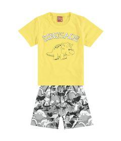 conjunto-camiseta-e-bermuda-em-meia-malha-e-moletinho-dinossauro-amarelo-kyly10952823113_frente