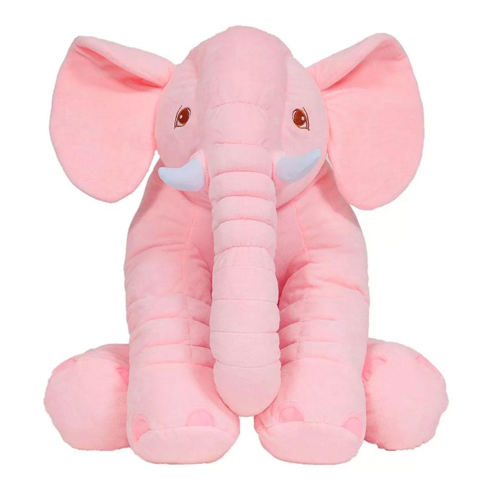 Pelúcia Gigante - 60 Cm - Elefante Rosa - Buba