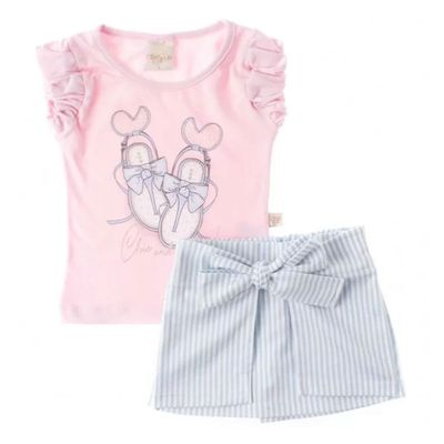 Conjunto-Chic---Blusa-Rosa-e-Short-Azul---Livy-Malhas_Frente