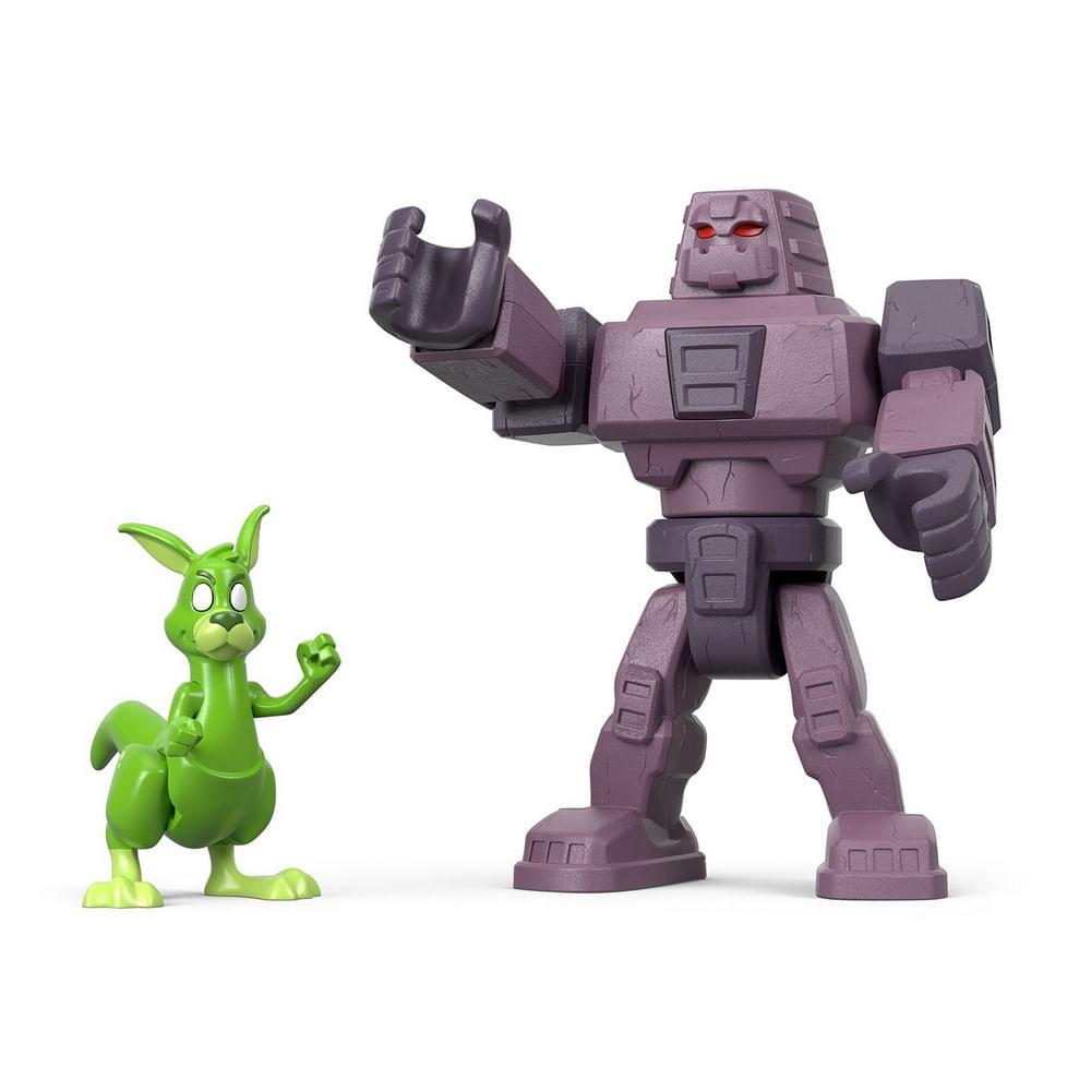 Figura e Veículo - Imaginext - DC Comics - Teen Titans Go - Cinderblock e Mutano Canguru - Fisher Price