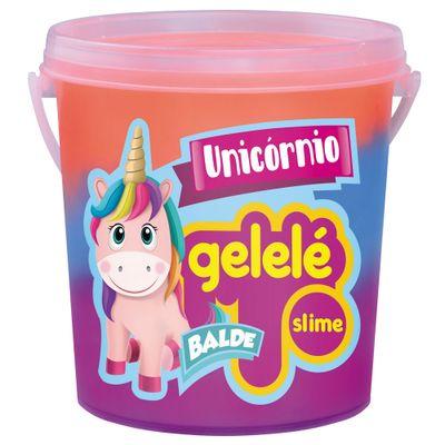 balde-de-slime-457-gr-gelele-unicornio-3-cores-azul-pink-e-laranja3463_frente