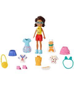 Boneca-Polly-Pocket---Conjunto-de-Viagens-Fashion---Shani---Mattel_Frente