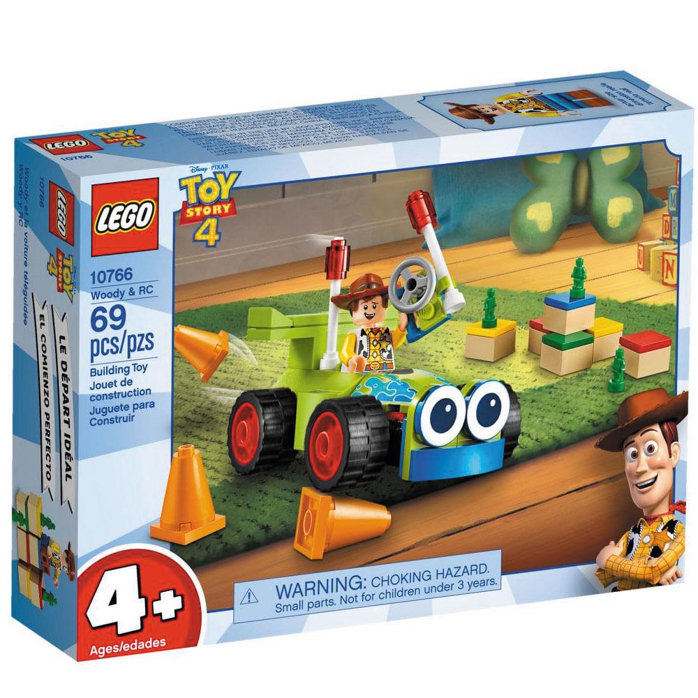 LEGO Juniors - Disney - Toy Story 4 - Figura e Veículo - Woody e RC - 10766