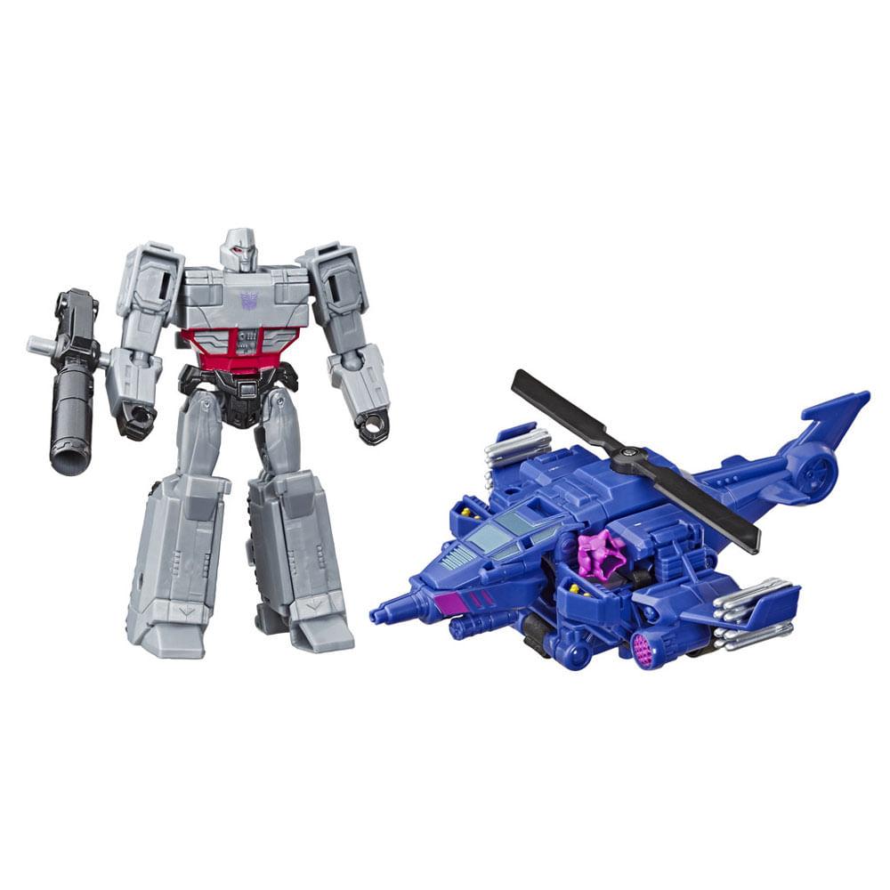 Mini Figuras Transformáveis - 15 Cm - Transformers - Cyberverse - Elite - Megatron e Chopper Cut - Hasbro