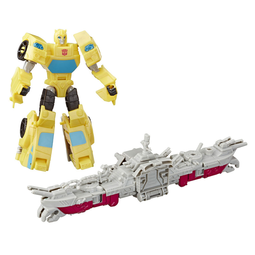 Mini Figuras Transformáveis - 15 Cm - Transformers - Cyberverse - Elite - Bumblebee e Ocean Storm - Hasbro