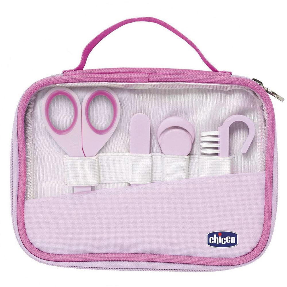 Conjunto de Higiene - 4 Peças - Rosa - Chicco