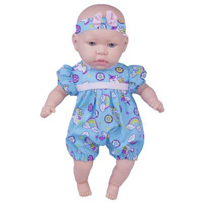 Boneca---44cm---My-Sweet-Baby---Vestido-Azul---Unicornio---Cotiplas_Frente