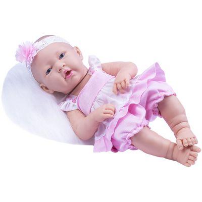 Boneca-Baby-Ninos---Morena---Vestido-Rosa---Cotiplas_Frente