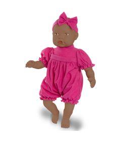 Boneca-Bebe---Baby-By-Jensen---Negra---Macaquinho-Pink---Roma-Jensen_Frente