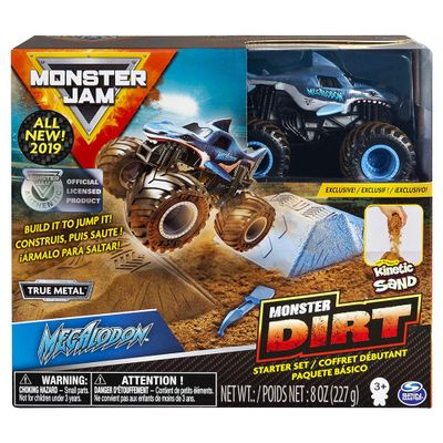 Playset-com-Massa-Areia-e-Veiculo---Monster-Jam---Megalodon---Sunny