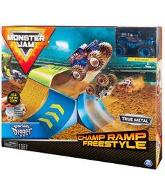 Playset-com-Rampa-e-Veiculo---Escala-1-64---Monster-Jam---Sunny