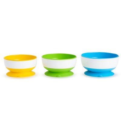 Tigelas-com-Ventodas---3-Unidades---Amarelo-Verde-e-Azul-com-Branco---Munchkin_Frente