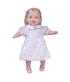 Boneca---Conversando-com-a-Mamae---Vestido-Rosa-Com-Branco---Cotiplas_Frente