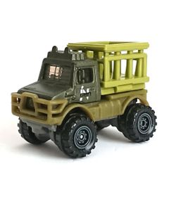 Carrinho-Die-Cast---Jurassic-World-2---Matchbox---97-Mercedes-Benz-Unimog-U1300---Mattel