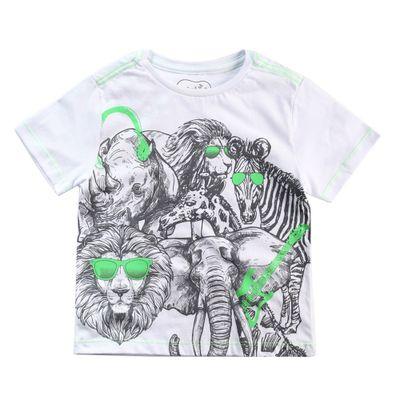 Camisa-Manga-Curta---Animais-Rock-Fluor---100--Algodao---Branco---Minimi---1