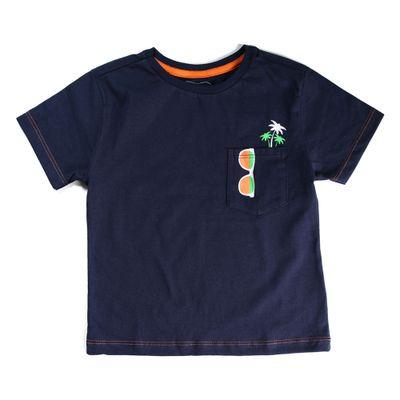 Camiseta-Infantil---Bolso-Estampado---100--Algodao---Azul-Marinho---Minimi---1