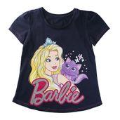 Camiseta-Manga-Curta---Barbie---Gatinha-Glitter---100--Algodao---Marinho---Barbie---4