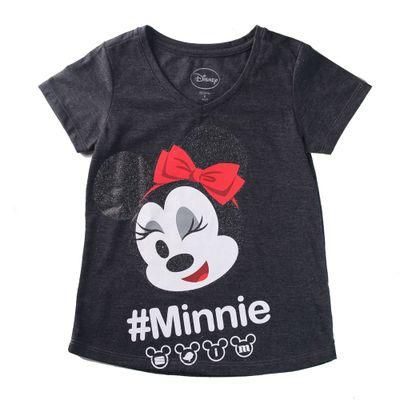 Camiseta-Manga-Curta---Decote-V---Minnie-Mouse---Algodao-e-Poliester---Vermelho---Disney---4