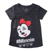 Camiseta-Manga-Curta---Decote-V---Minnie-Mouse---Algodao-e-Poliester---Vermelho---Disney---8