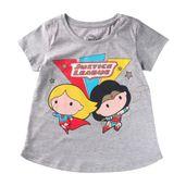 Camiseta-Manga-Curta---Liga-da-Justica---Girls---Algodao-e-Poliester---Vermelho---DC-Comics---4