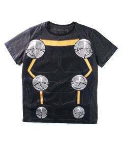 Camiseta-Manga-Curta---Marvel---Avengers---Thor---Algodao-e-Poliester---Preto---Disney---10