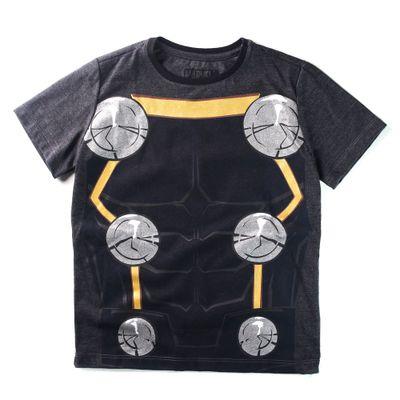 Camiseta-Manga-Curta---Marvel---Avengers---Thor---Algodao-e-Poliester---Preto---Disney---6